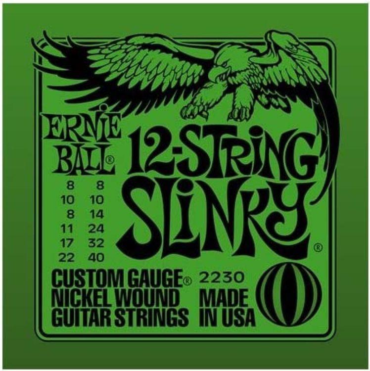 Струны для электрической гитары Ernie Ball Nickel Slinky 12 (8-8.10-10.14-8.24w-11.32-17.40-22w), P02230