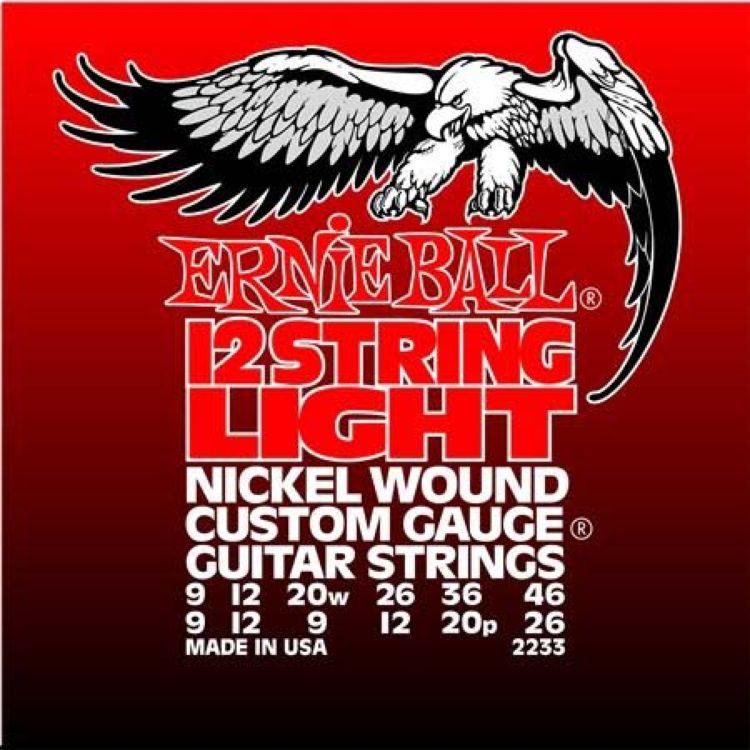 цена на Струны для электрической гитары Ernie Ball Nickel Light 12 (9-9.12-12.20w-9.26-12.36-20p.46-26), P02233