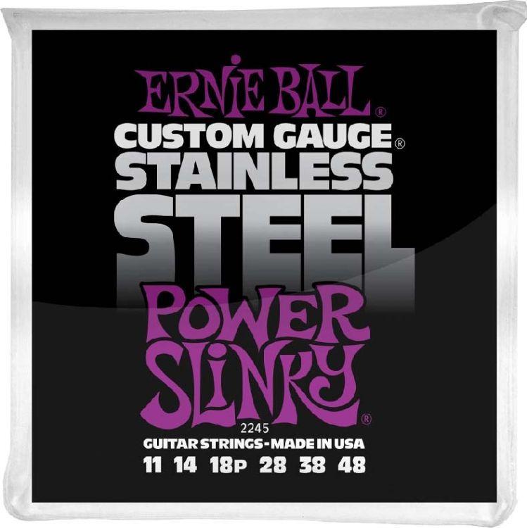 Струны для электрической гитары Ernie Ball Stainless Steel Power Slinky (11-14-18p-28-38-48), P02245 stainless steel compression members
