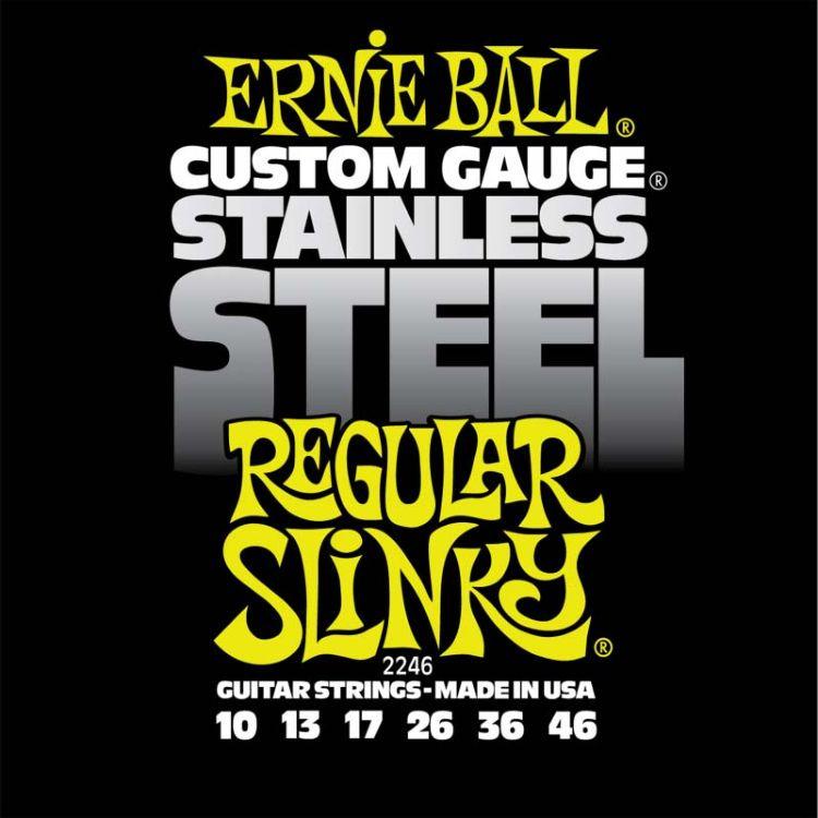 Струны для электрической гитары Ernie Ball Stainless Steel Regular Slinky (10-13-17-26-36-46), P02246 stainless steel compression members