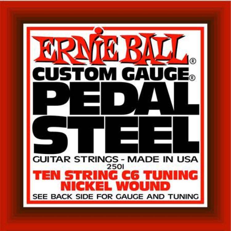 Струны для электрической гитары Ernie Ball Nickel Wound 10-String C6 Pedal Guitar, 10 шт, P02501 педаль эффектов ernie ball 250k mono volume pedal