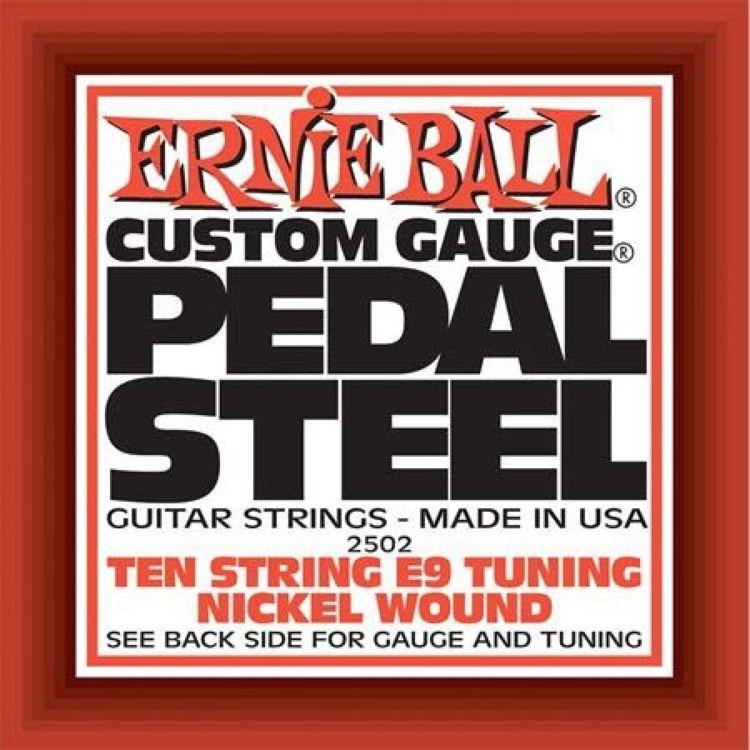 Струны для электрической гитары Ernie Ball Nickel Wou 10-String E9 Pedal Guitar E9th, 10 шт, P02502 педаль эффектов ernie ball 250k mono volume pedal