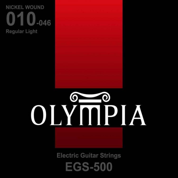 Струны для электрической гитары Olympia Nickel Wound (10-13-17-26w-36-46), EGS500