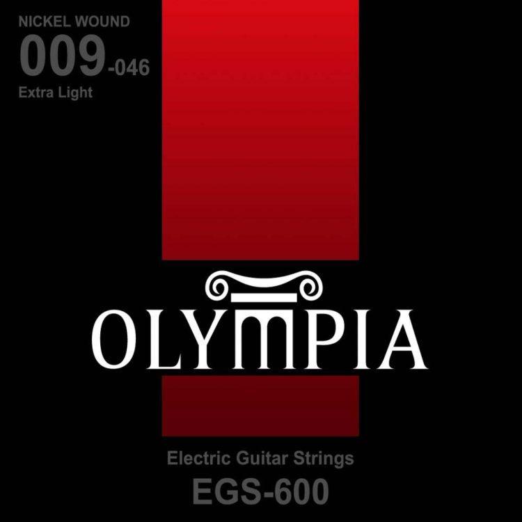 Струны для электрической гитары Olympia Nickel Wound (9-11-16-26w-36-46), EGS600