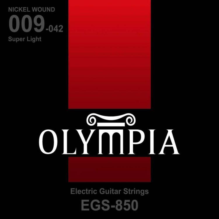 Струны для электрической гитары Olympia Nickel Wound (9-11-16-24w-32-42), EGS850