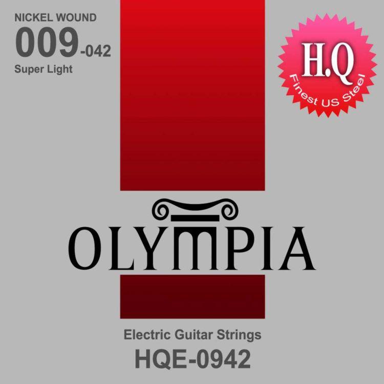 цена на Струны для электрической гитары Olympia Nickel Wound (9-11-16-24w-32-42), HQE0942