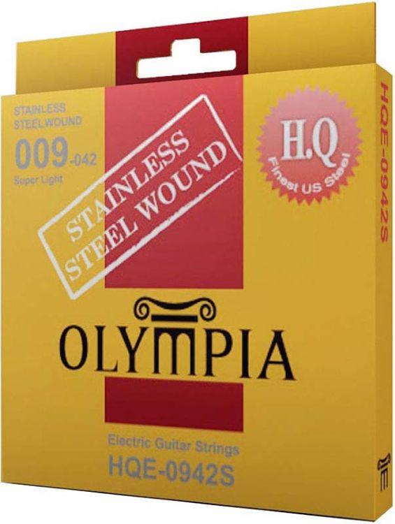 Струны для электрической гитары Olympia Stainless Steel Wound (9-11-16-24w-32-42), HQE0942S gj303 rhinestones 316l stainless steel couple s ring black silver size 9 7 2 pcs