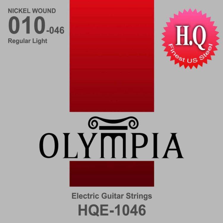 Струны для электрической гитары Olympia Nickel Wound (10-13-17-26w-36-46), HQE1046