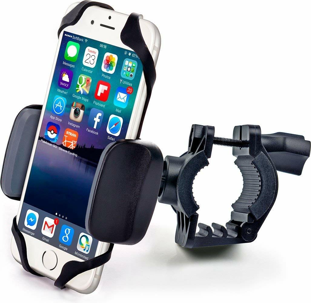 Велосипедное крепление для мобильного Универсальный держатель кронштейн крепление для телефона смартфона гаджетов навигатора КПК на велосипед мопед, черно-серый чехлы накладки для телефонов кпк mokories zenfone4 zenfone4 asus