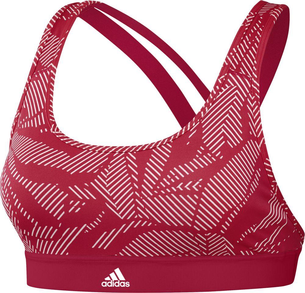 Топ-бра женский Adidas Drst Aop, цвет: коралловый. DT2763. Размер L (52)DT2763