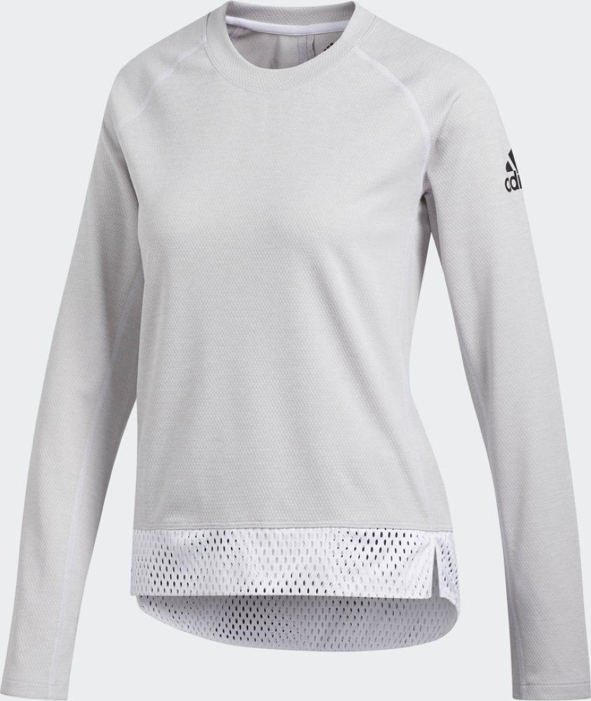 Свитшот adidas Crew Neck Cu lace hollow design crew neck long sleeves dress in white