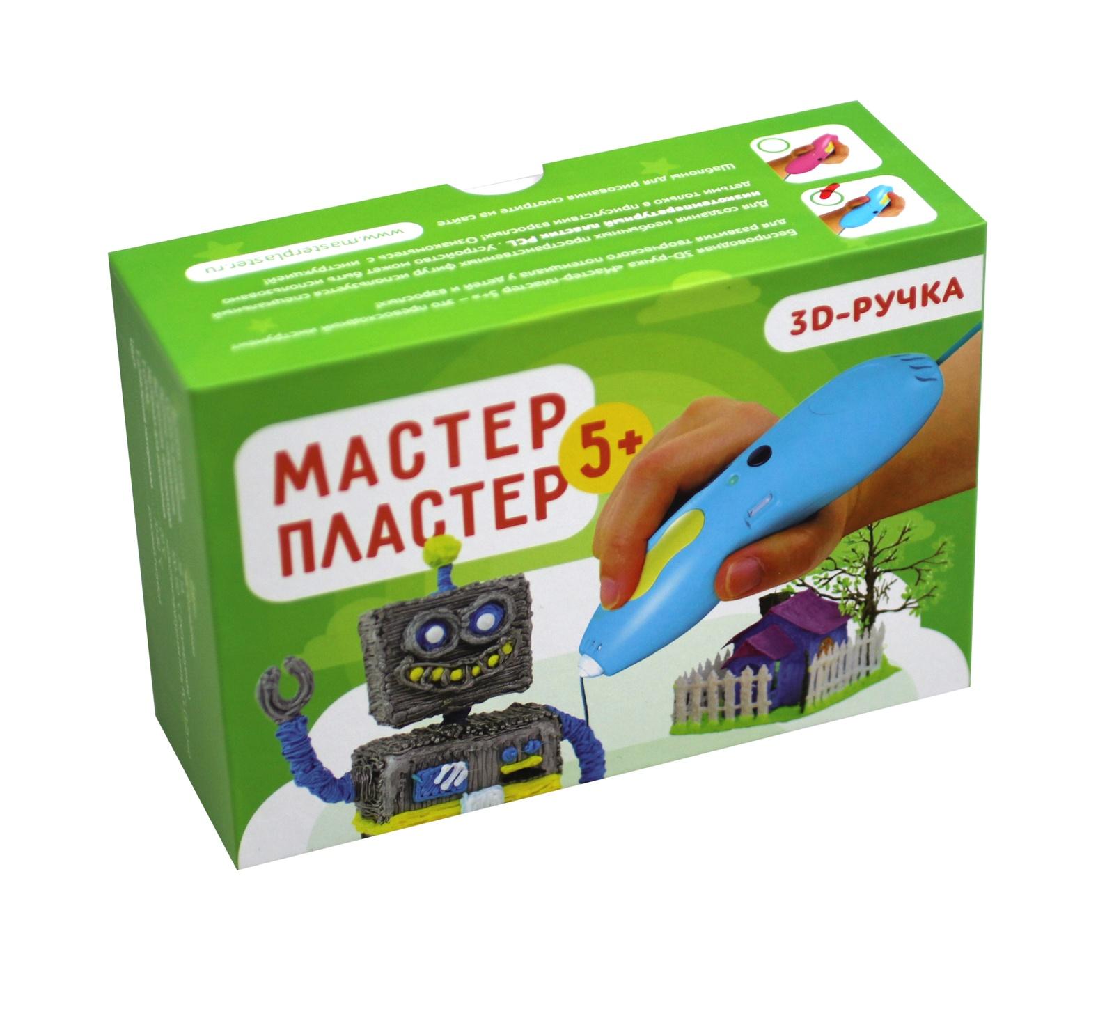 3D ручка Мастер-Пластер 5+, розовый070194Беспроводная низкотемпературная 3D ручка Мастер-Пластер 5+Цвет: розовыйОсобенности:- НЕ нагревается! (используется низкотемпературный пластик).- Работает БЕЗ проводов! Ручка оснащена встроенным аккумулятором.- Стильный эргономичный дизайн.- Удобная и безопасная форма. Ручка выполнена с Soft-Touch покрытием, не скользит и идеально подходит для детской руки.- 2 ярких цвета исполнения (розовый/голубой).- Простота использования, быстрый ввод/вывод пластика.Характеристики:Диаметр сопла: 0,9 ммСкорость печати: настраиваемаяРабочее напряжение: 5В 1АМатериал для печати: низкотемпературная нить PCL (1,75 мм)Температура сопла: 20?СТемпература плавления материала: 70-80 ?СЗагрузка нити: одно нажатие - загрузить нить/остановить,двойное нажатие – вытащить нить