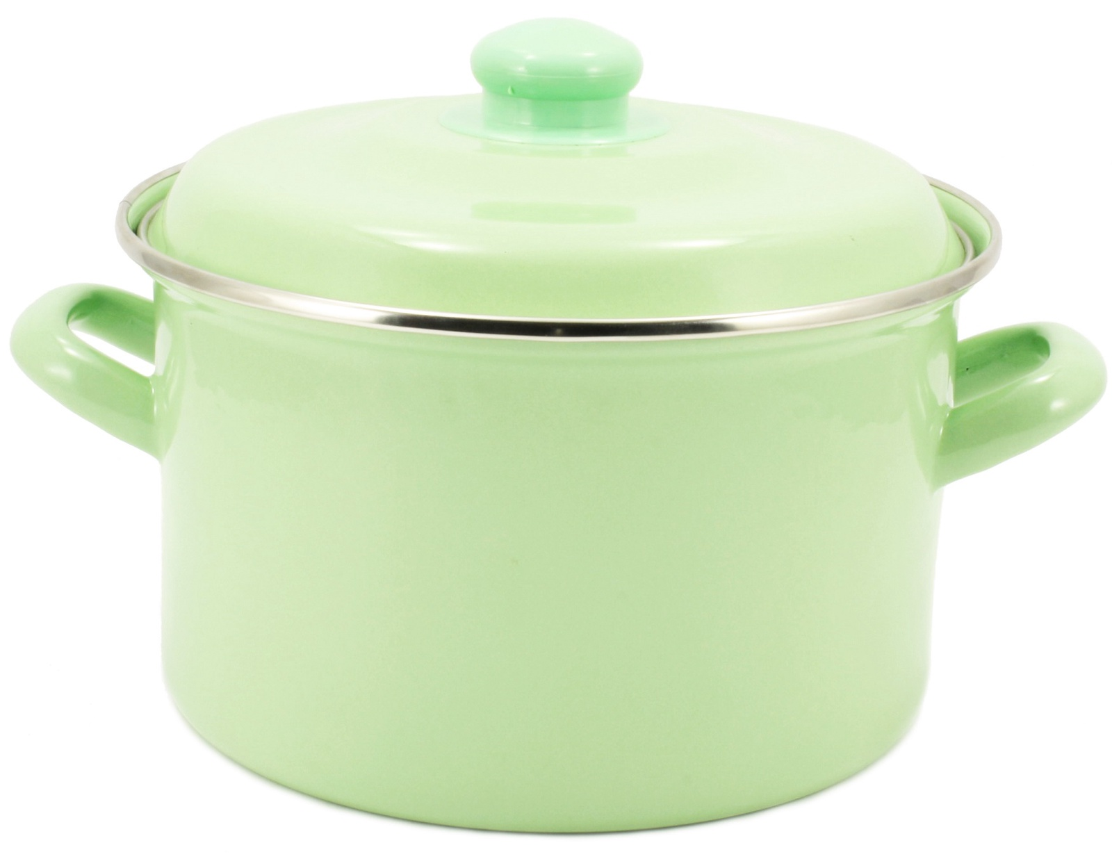 Фото - Кастрюля Interos МЯТА 4,7 литра с металлической крышкой, светло-зеленый посуда для приготовления пищи