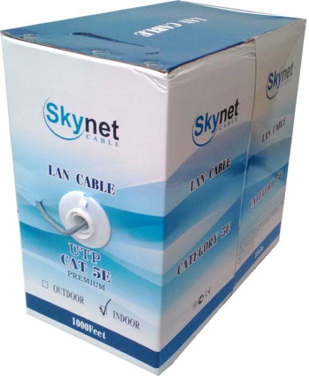 Кабель для компьютерных сетей SkyNet UTP2-CAT5e (24 AWG) Light, медный, внутренний, серый, 305 м