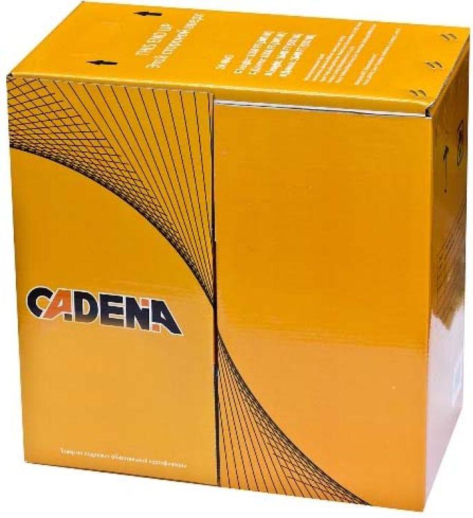 Кабель для компьютерных сетей Cadena UTP4-CAT5e (24 AWG) медный, внешний, черный, 305 м