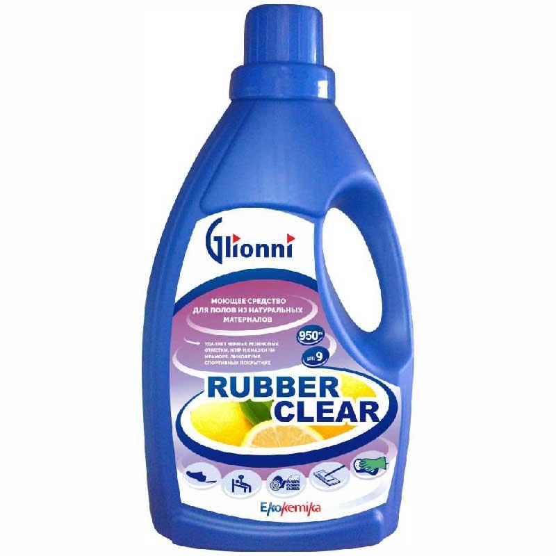 Средство для ухода за мебелью и полом Ekokemika полов их натуральных материалов, Rubber Clear, низкопенное, 0.95 л