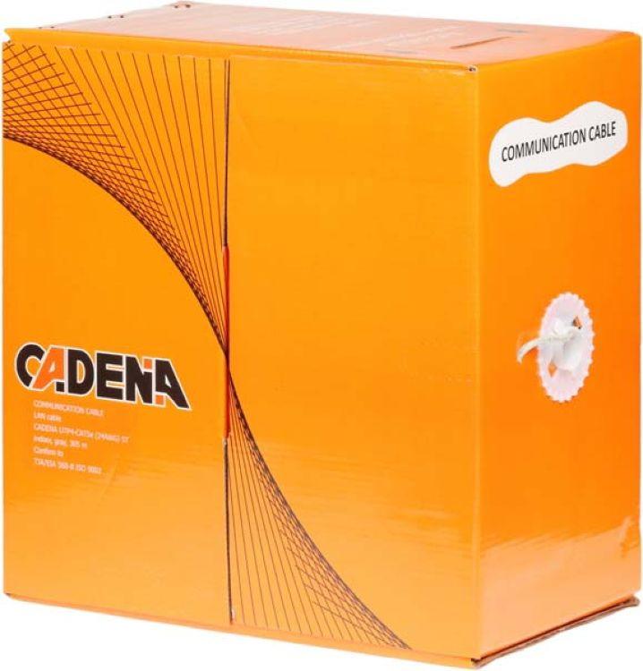 Кабель для компьютерных сетей Cadena UTP4-CAT5e (24 AWG) ST, медный, внутренний, серый, 305 м ip телефония для офиса что это