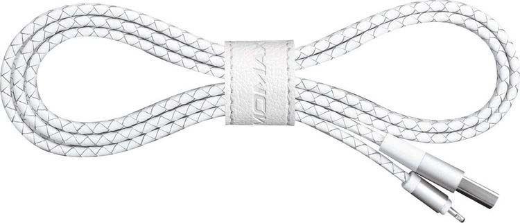 Кабель Momax Elite Link Pro Elite Link Lightning-USB 1 метр для Apple с сертифицированным чипом MFi, белый