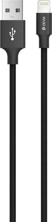 Кабель Devia Pheez для iPhone/iPad/iPod Lightning 2.4A, черный, 1 м все цены