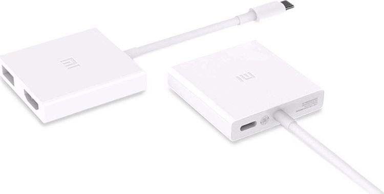 Кабель Devia Xiaomi Type-C + USB-C + HDMI (ZJQ01TM), белый зеленый juneng llano type c линия hdmi кабель преобразователя macbook apple ноутбук видео конвертер usb c к hdmi видео кабель 2 м