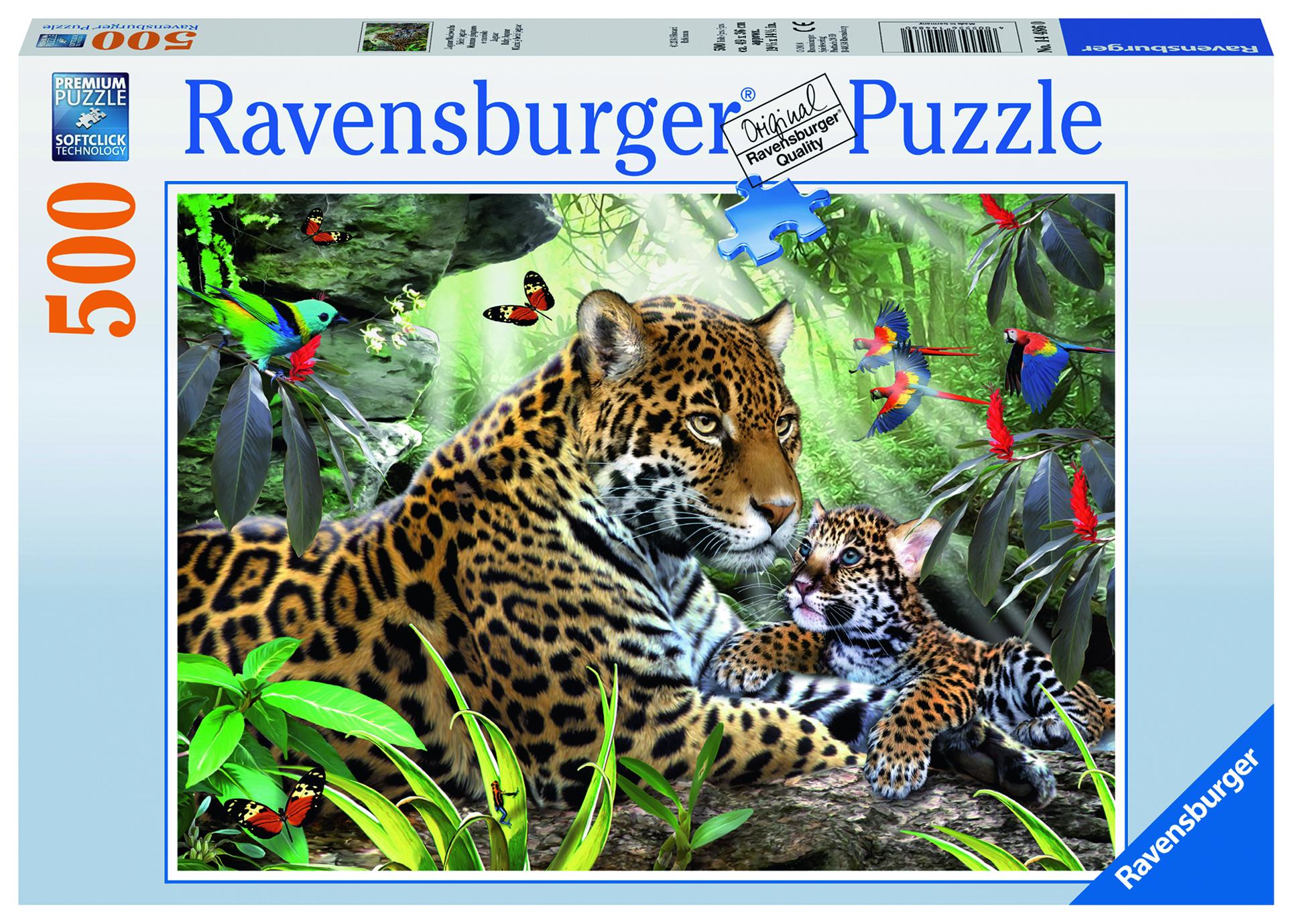 цена на Пазл Ravensburger Ягуар и отпрыск 500 шт арт.14486