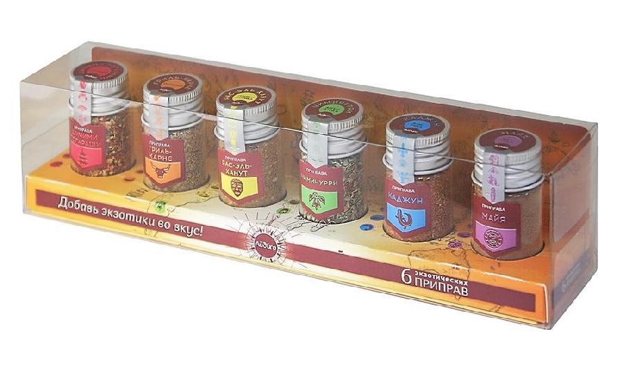Фото - Экзотика. Набор 6 экзотических приправ [супермаркет] jingdong геб scybe фил приблизительно круглая чашка установлена в вертикальном положении стеклянной чашки 290мла 6 z