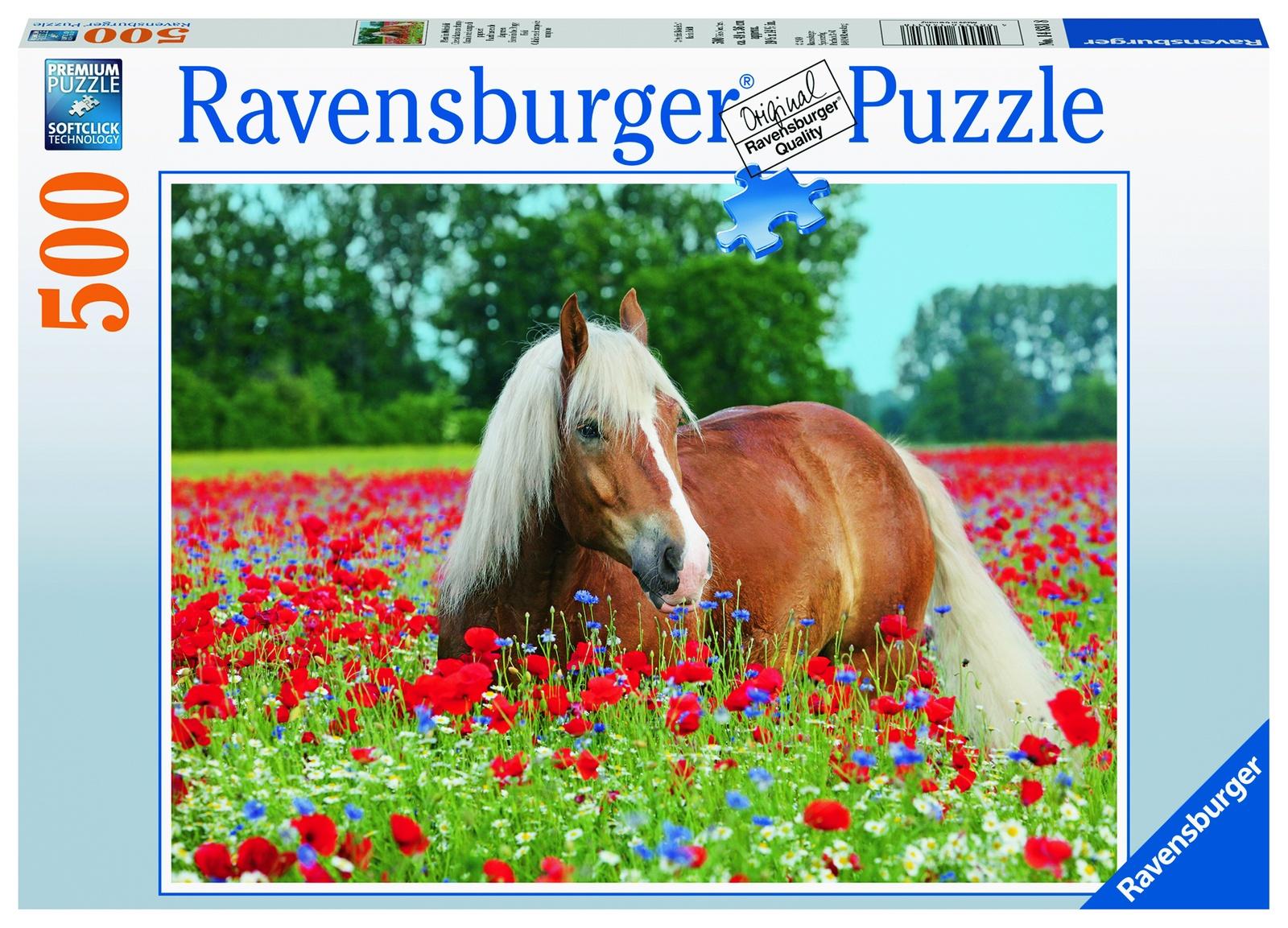 Пазл Ravensburger Лошадь в маках 500 шт арт.14831