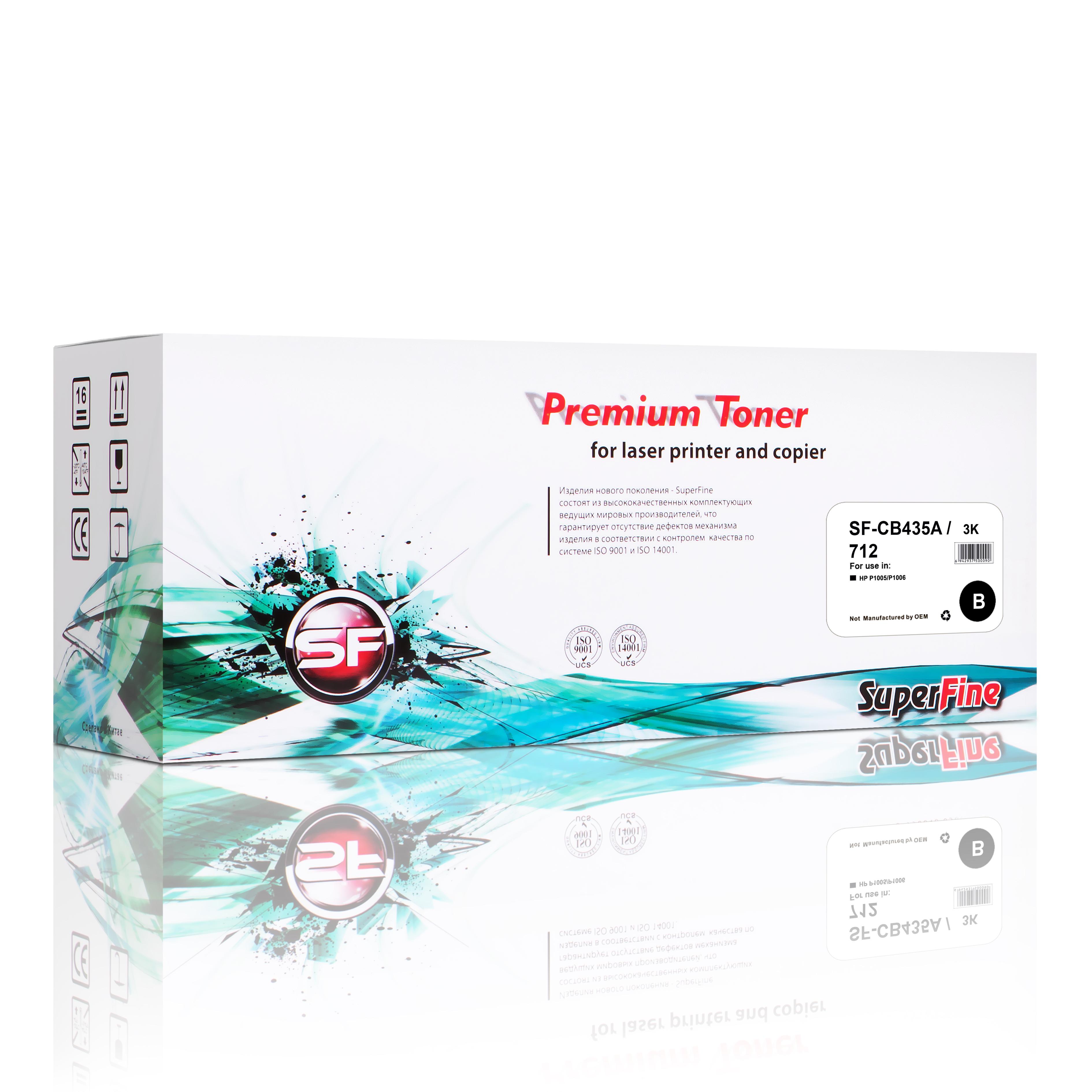 Картридж SuperFine SF-CB435A/712 для использования в принтерах HP LaserJetP1005/P1006 или Canon LBP3010/3101