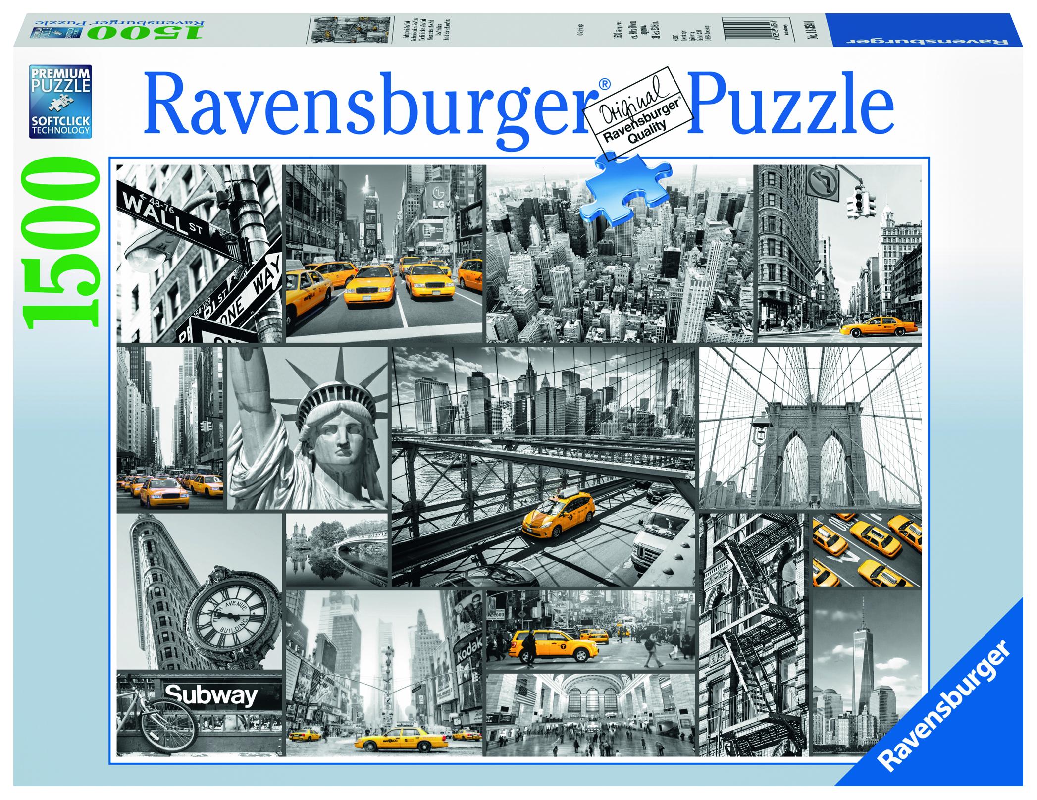 Пазл Ravensburger Такси Нью-Йорка 1500 шт. арт.16354