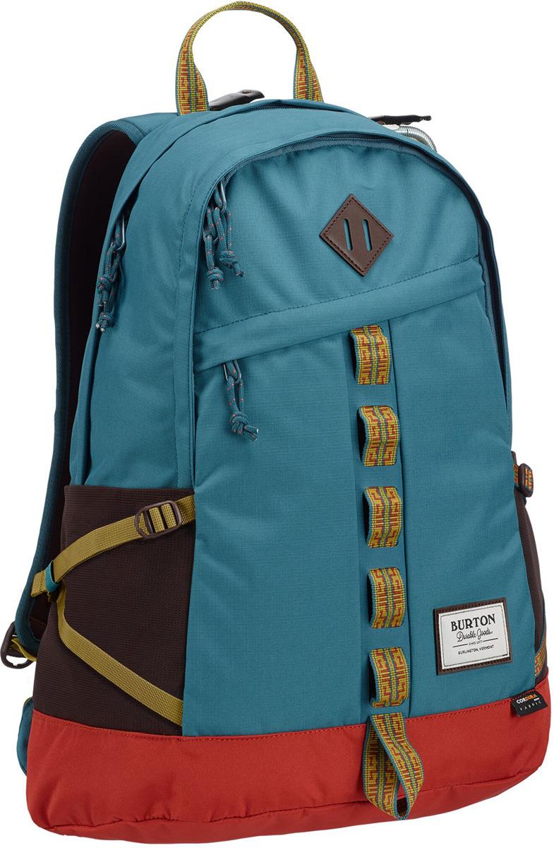 Рюкзак Burton Shackford Pack, 13648109400NA, голубой, красный, желтый, 24 л burton рюкзак cadet pack syrup herringbone win14