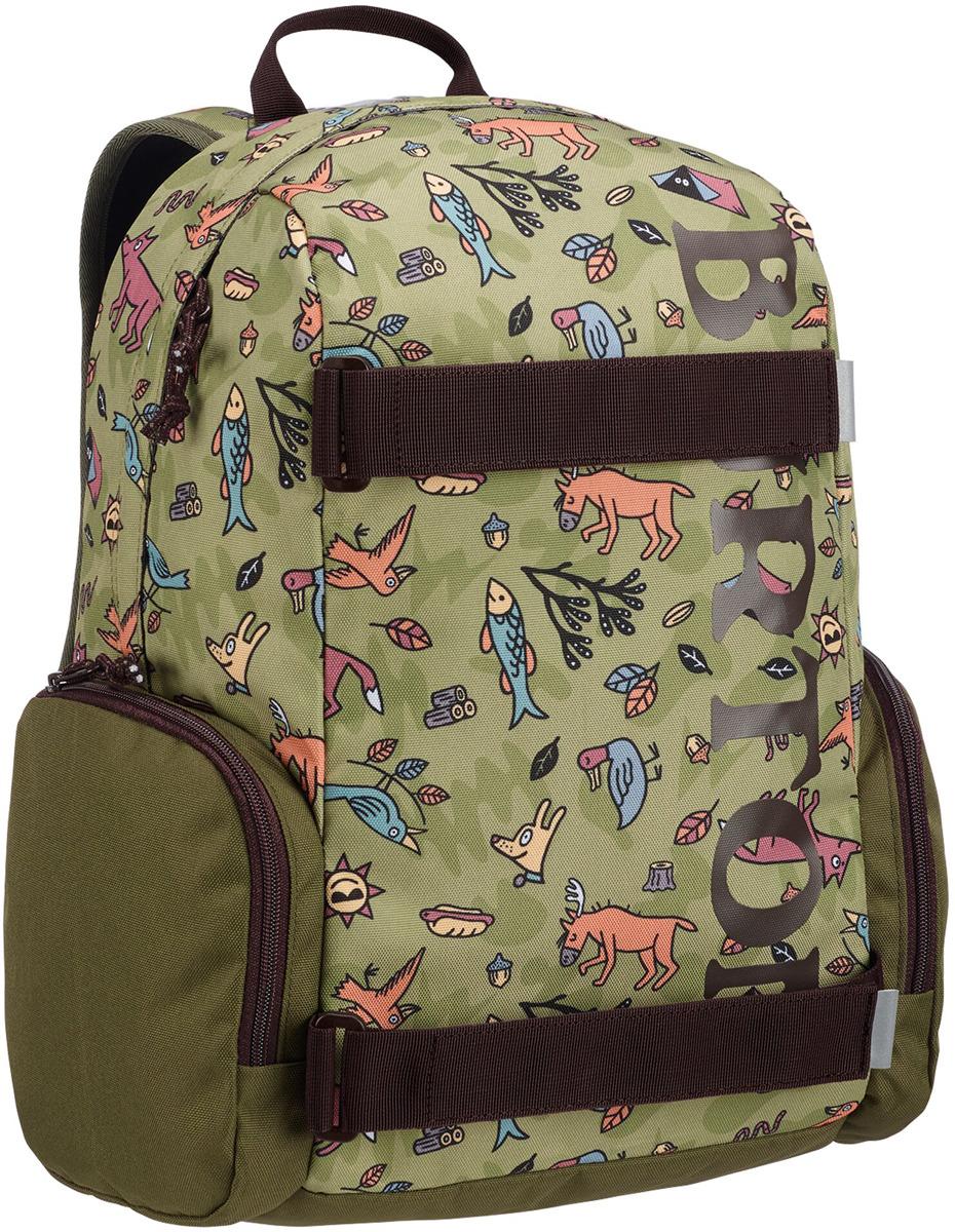 купить Рюкзак детский Burton Youth Emphasis, 13660109300NA, зеленый, коричневый, 18 л недорого