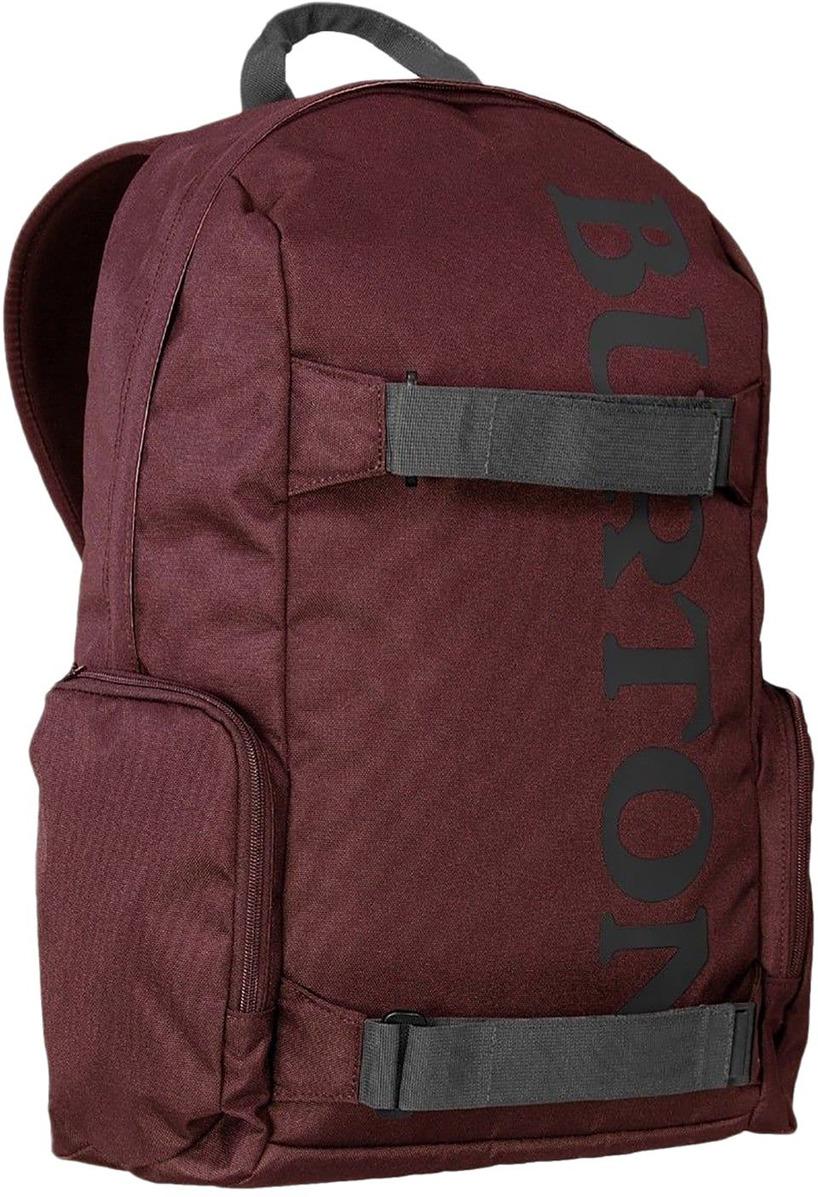 Рюкзак Burton Emphasis Pack, 17382104524NA, бордовый, серый, 26 л17382104524NAХотите посвятить день катанию на скейтборде, а потом немного поработать? Хватайте этот рюкзак и вперед! Универсальный рюкзак объемом 26 литров, основное отделение оснащено карманом для ноутбука, есть два внешних кармана на молнии и крепления для скейтборда.