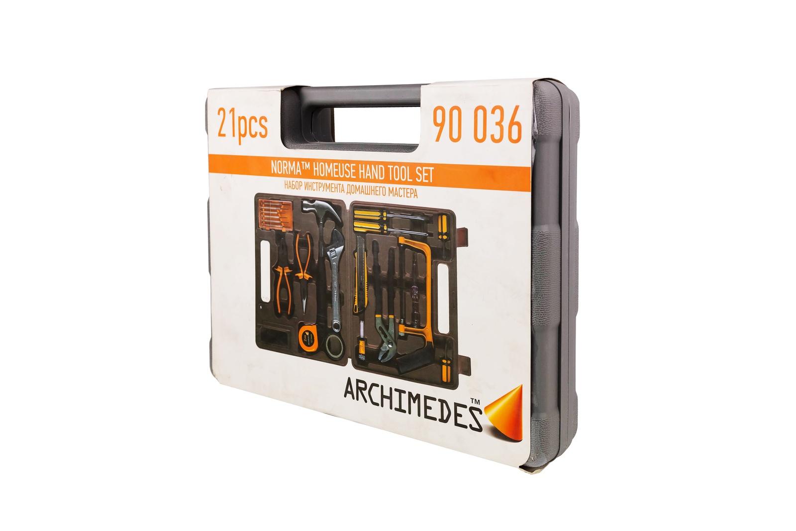 Набор инструментов Archimedes Набор инструмента Norma, 21 шт набор инструментов archimedes набор домашнего мастера 113 шт