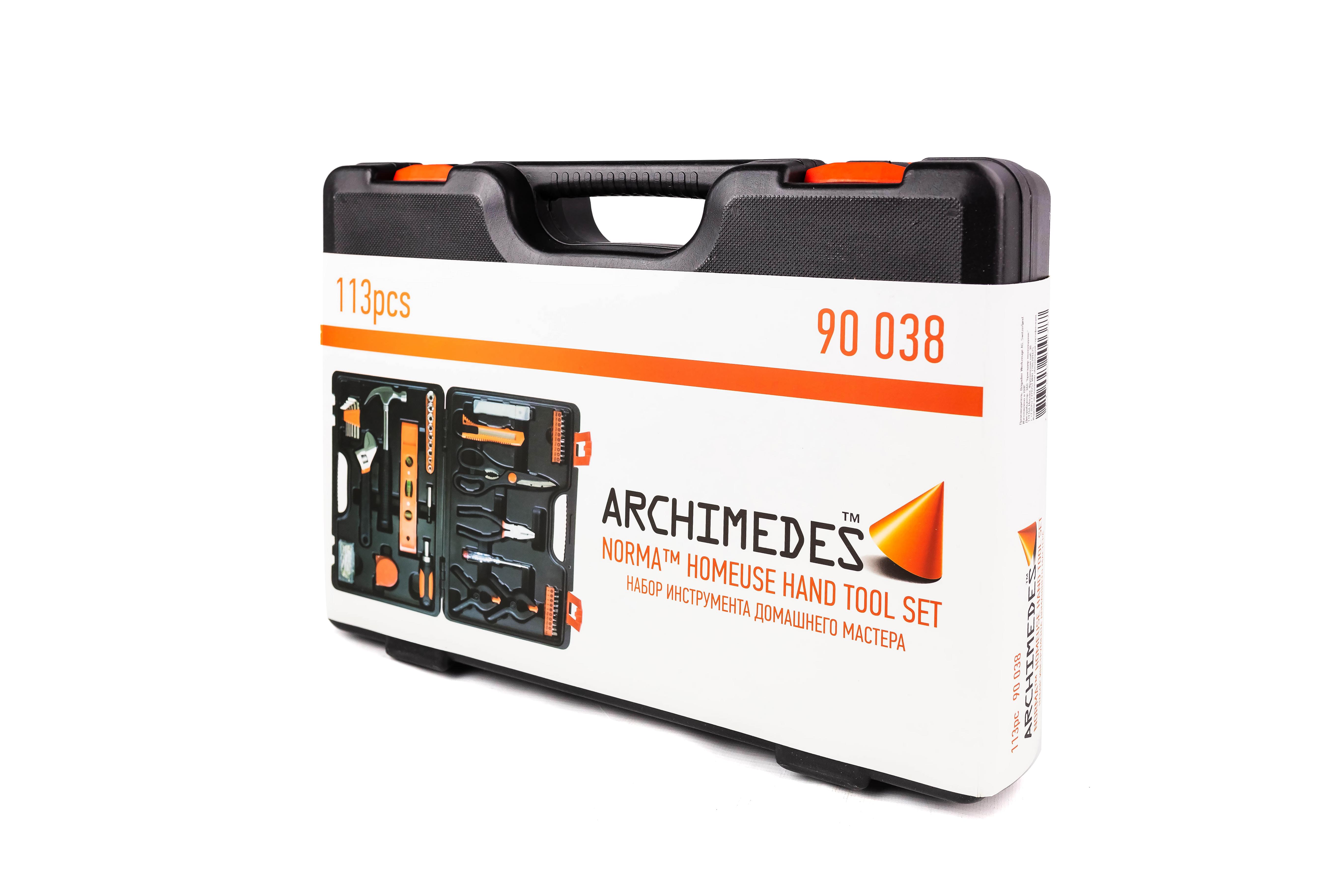 Набор инструментов Archimedes Набор домашнего мастера, 113 шт набор инструментов archimedes набор домашнего мастера 113 шт