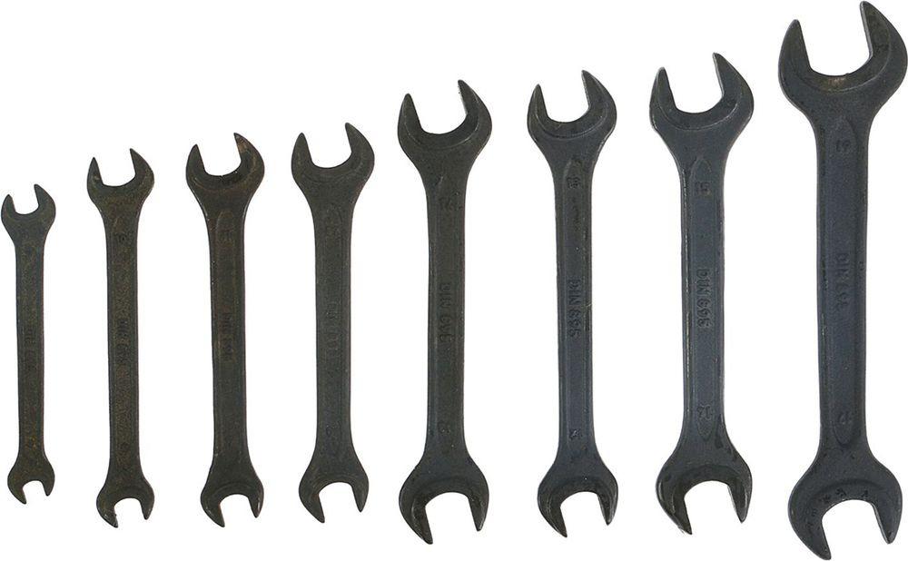 Набор рожковых ключей Tundra Basic, фосфатированный, 6-19 мм, 878123, 8 шт
