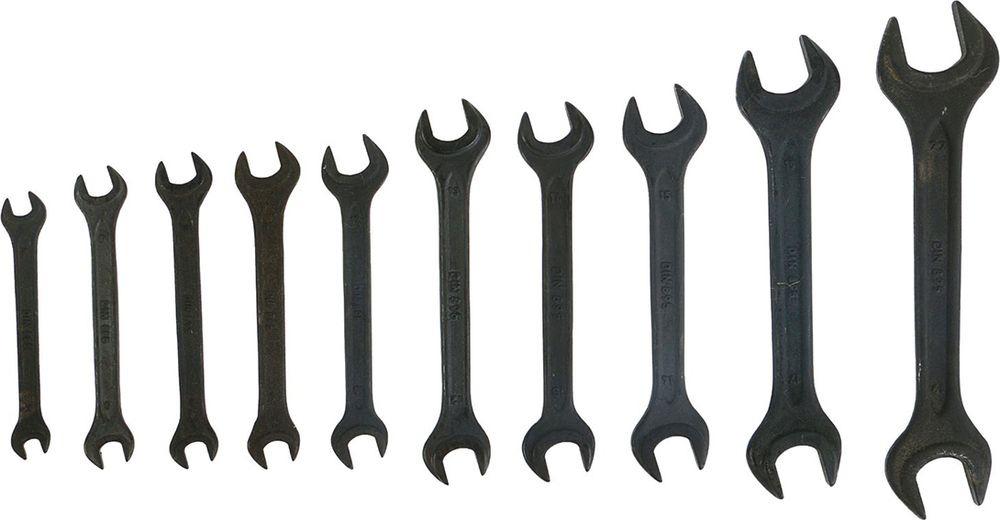 Набор рожковых ключей Tundra Basic, фосфатированный, 6-22 мм, 878124, 10 шт