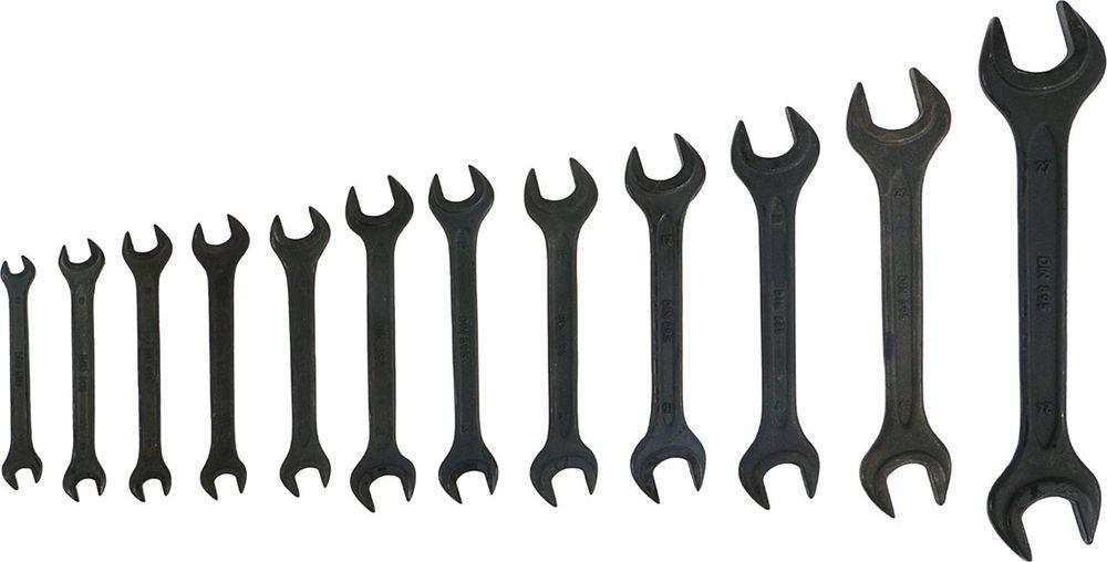 Набор рожковых ключей Tundra Basic, фосфатированный, 6-27 мм, 878125, 12 шт