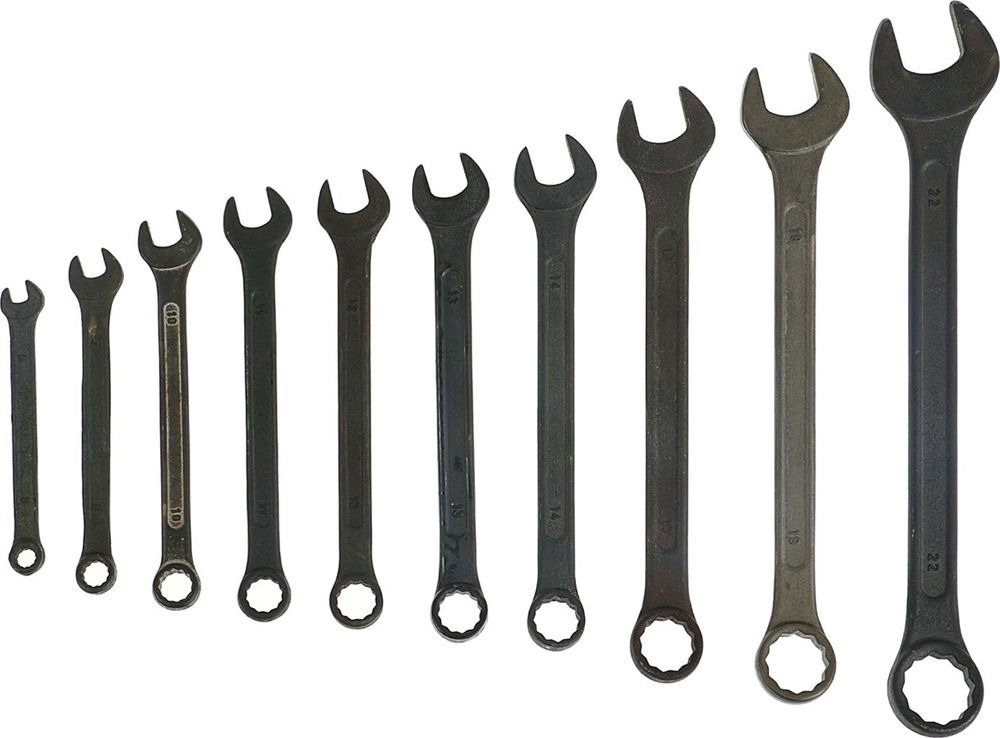 Набор комбинированных ключей Tundra Basic, 6-22 мм, 878128, 10 шт