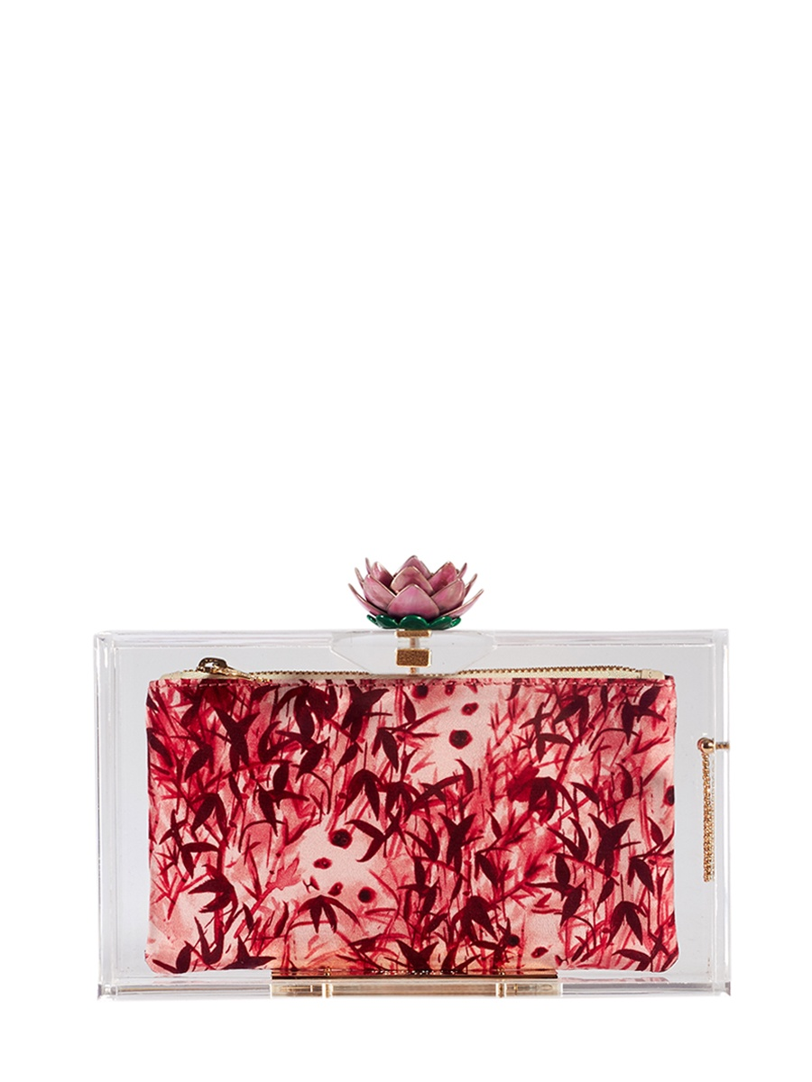 Фото - Клатч Charlotte Olympia PANDORAINBLOOMцветы charlotte olympia кошелек из металлизированной кожи pouty purse