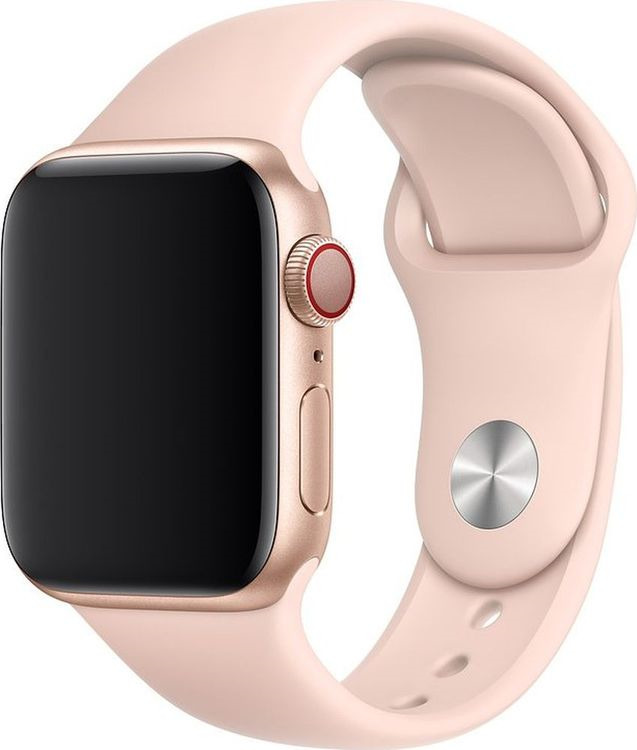 Ремешок для смарт-часов Apple Watch Accessories Sport Band, MTP72ZM/A, pink sand, 40 мм аксессуар ремешок apple watch 40mm sport band s m m l midnight blue mtph2zm a