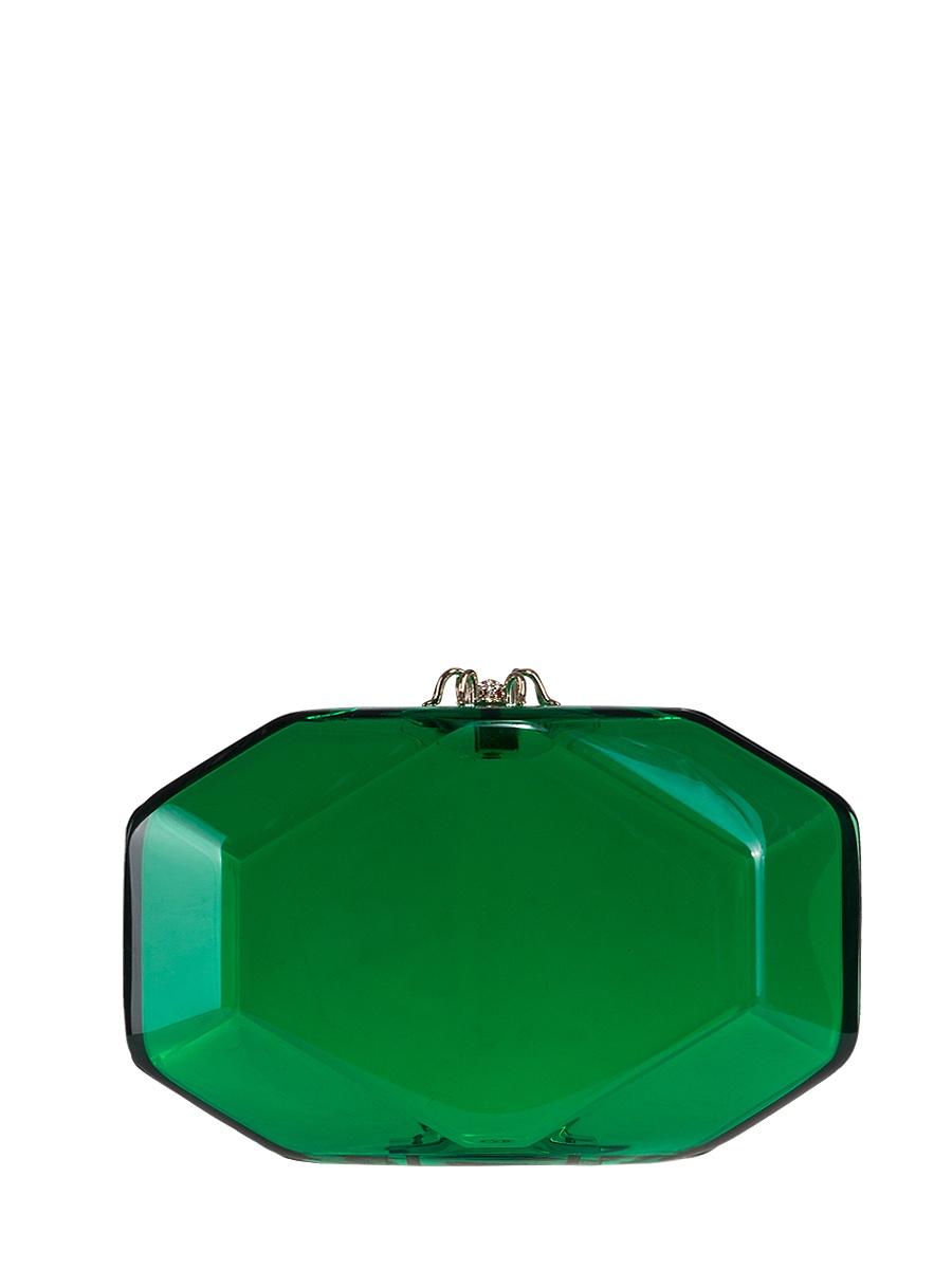 Фото - Клатч Charlotte Olympia GEMзеленый charlotte olympia кошелек из металлизированной кожи pouty purse