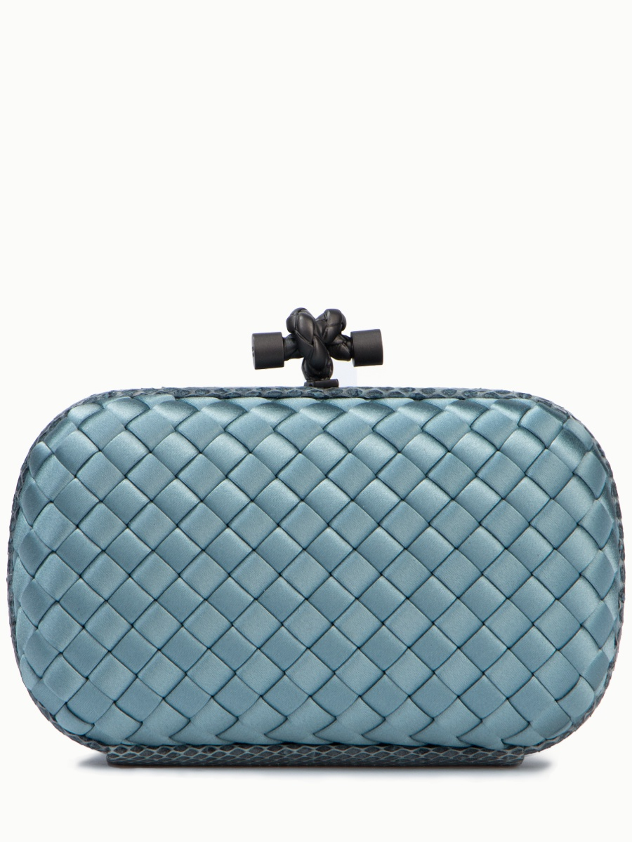 Клатч Bottega Veneta 1130854713Голубой цена и фото