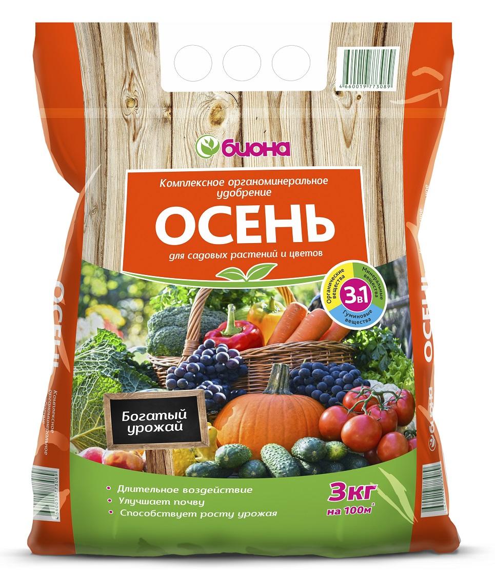 """Удобрение Биона Органоминеральное """"Осень"""", 3кг"""