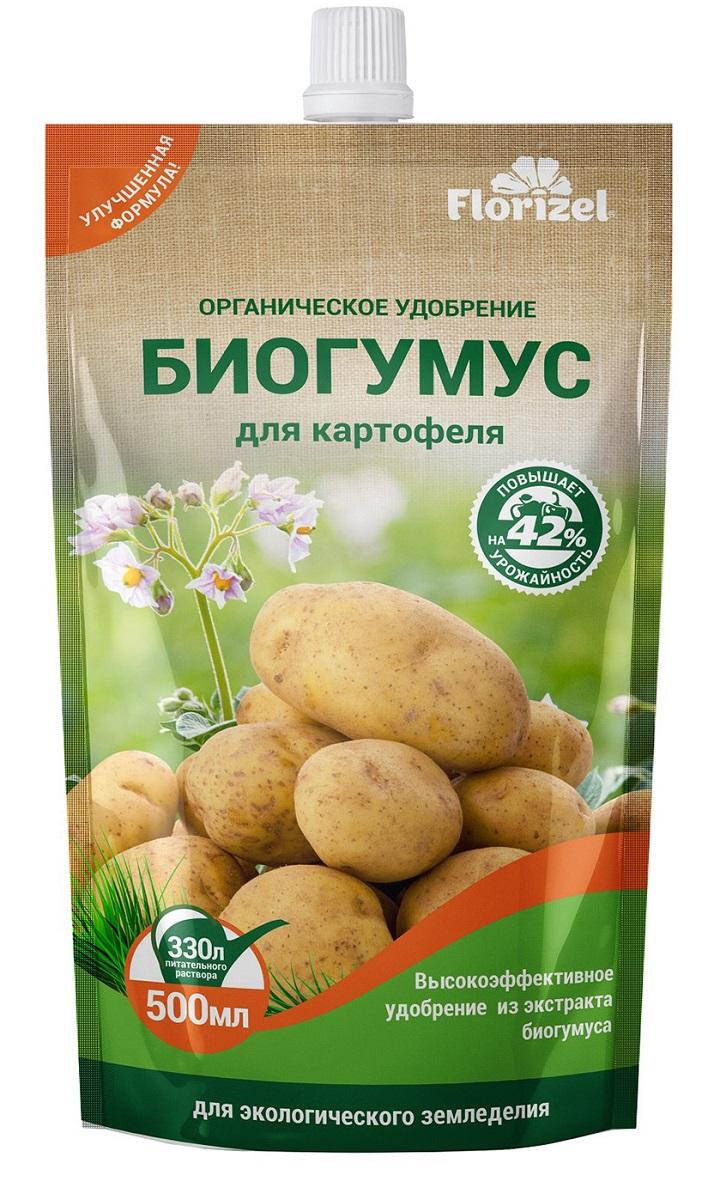 Удобрение Florizel Гелеобразное органическое Биогумус для картофеля, 500мл удобрение florizel гелеобразное органическое биогумус для роз 350мл