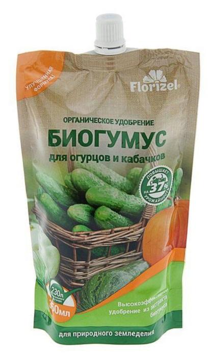 Удобрение Florizel Гелеобразное органическое Биогумус для огурцов и кабачков, 350мл удобрение florizel гелеобразное органическое биогумус для роз 350мл