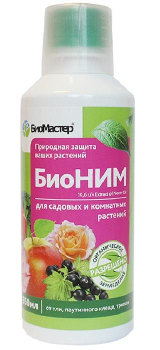"""Удобрение Биомастер Биоинсектицид """"БиоНим"""" 0,35л для профилактики и защиты растений от тли, паутинного клеща, белокрылки и трипса"""