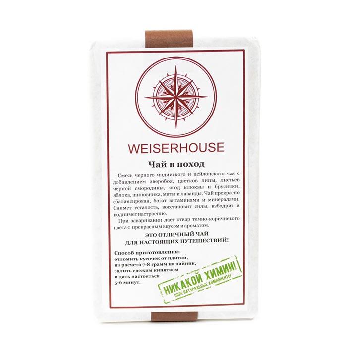 Чай листовой Weiserhouse в поход, прессованный, 125 г, Зверобой, Липа, Листья черной смородины, Ягоды клюквы, Брусника, Яблоко, Шиповник, Мята, Лаванда цена