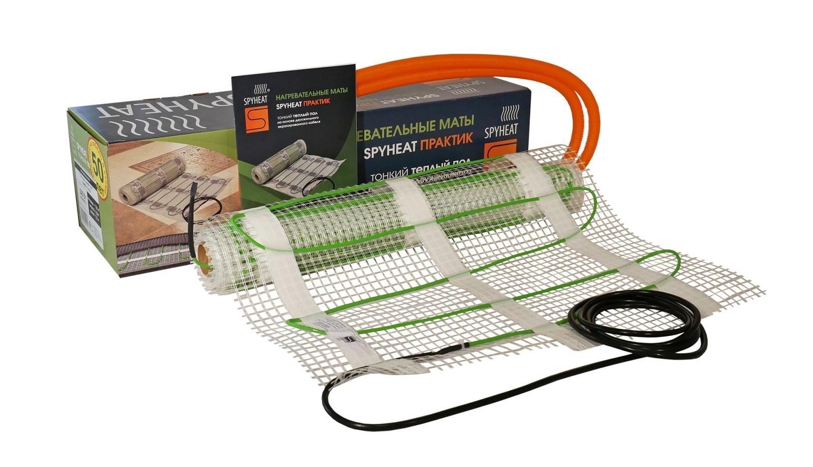 лучшая цена Греющий кабель SPYHEAT SHMD-12-765, зеленый