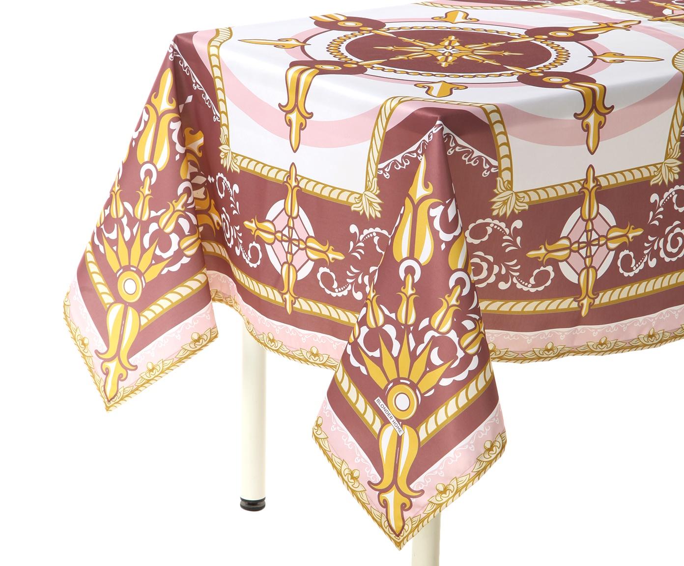 Скатерть Blonder Home RAYMOND, розовый, белый цена