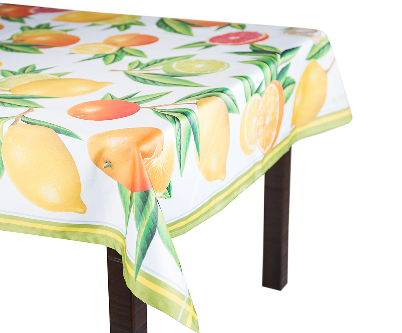 Скатерть Blonder Home CITRUS, белый, желтый, оранжевый, зеленый цена